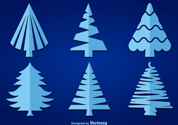 Winter tree silhouettes - vector gratuit #281059
