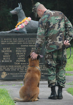 Always Faithful, Doberman, Military Working Dog, MWD, World War II Memorial, War Dog Cemetery located on Navel Base Guam - бесплатный image #281159