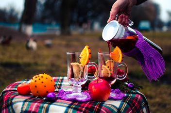 hot mulled wine in beautiful glasses - бесплатный image #297509