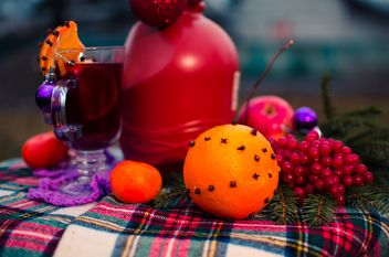 hot mulled wine in beautiful glasses - image gratuit(e) #297529