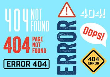 404 Errors - Free vector #297719