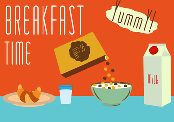 Set of Meals for Breakfast in Vector - Free vector #297859
