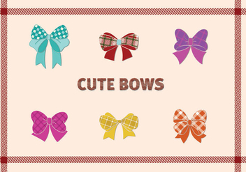 Cute Bow design - Free vector #297869
