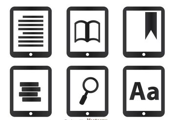 Read Icons On Tablet - Free vector #297919
