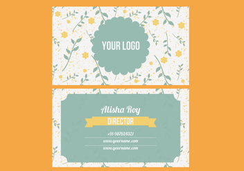 Trendy Colorful Business Card Vector - vector gratuit #297939