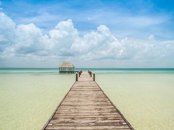 beach pier Holbox island Mexico Strand Pier - image gratuit #300029