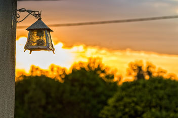 Lamp and sunset - Free image #300289