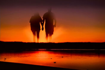 Ghost couple at sunset - Free image #300619