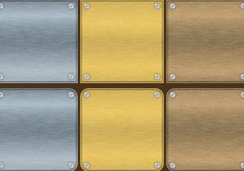 Aluminum Plate Vectors - Free vector #301479