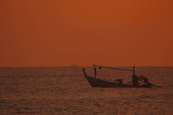 fishing boat moored on the coast - image #301589 gratis