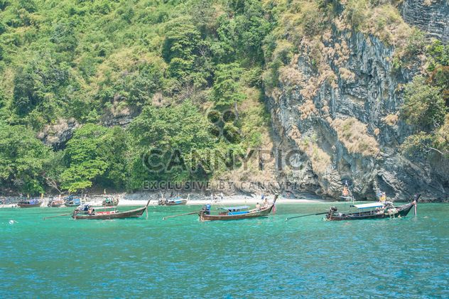 fishing boats moored on the coast - Free image #301679