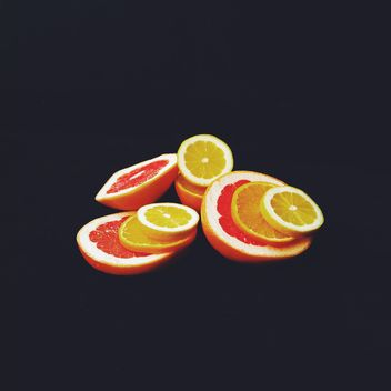 Orange and grapefruit slices - Kostenloses image #301949