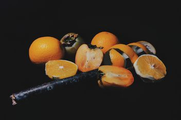 Persimmons and Orange slices - image #301959 gratis