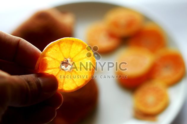 orange slice in a hand - Free image #301969