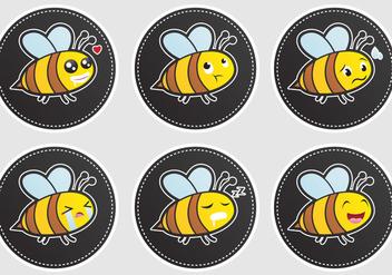 Expressive Bee Vectors - Kostenloses vector #302229