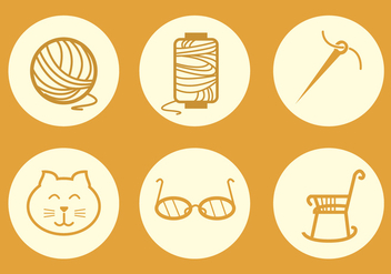 sewing Icon Vector - Free vector #302259
