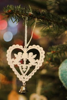 Christmas tree decoration bell - image #302389 gratis