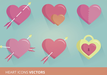 Heart Icons Vector Format - Free vector #302599