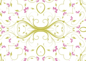 Cute floral pattern vector - Free vector #302639