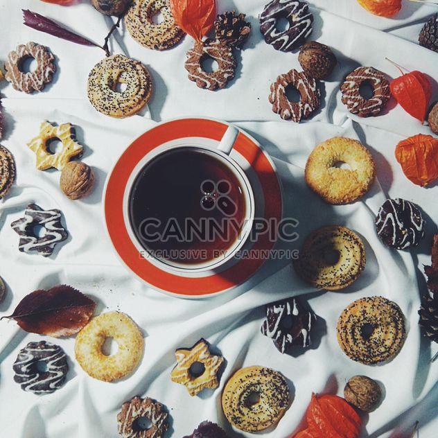 Черный чай и печенье - Free image #302859