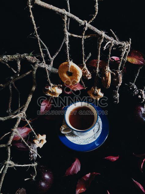 Черный чай и печенье - Free image #302869