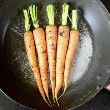 carrots on frying pan - image #302899 gratis