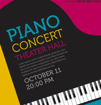 Music Piano Concert poster - Free vector #303179