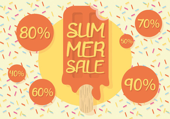 Free Summer Sale Vector Background - vector gratuit #303399