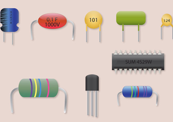 Transistor Vector Parts Set - бесплатный vector #303649