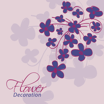 Abstract Flower Decoration Card - Free vector #303689