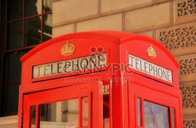 Cabine de téléphone rouge - Free image #303809