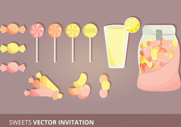 Candy Set Vectors - Kostenloses vector #303829
