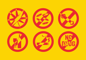 No Drug Vectors - Free vector #303839