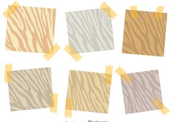 Sticky Note Zebra Print Vectors - Kostenloses vector #303859