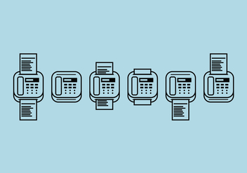 Fax Icons Vector Set - Free vector #304289