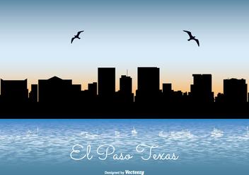 El Paso Texas Skyline Illustration - Kostenloses vector #304429
