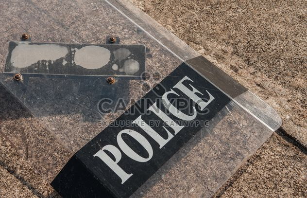 Police shields on the flour - Free image #304679