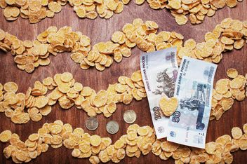 Cornflakes and money - Free image #304699