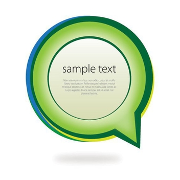 Speech Bubble Message Banner - Free vector #304809