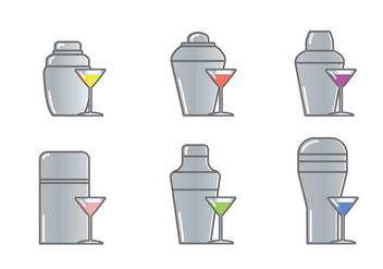 Cocktail Shaker Icon Vector - Free vector #304879