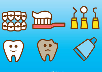 Vector Dental Icons - vector gratuit #304949