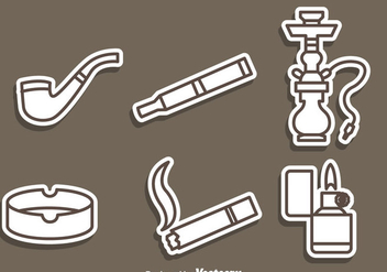 Smoking Outline Icons - Free vector #305009