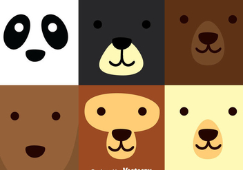 Bear Square Face - Free vector #305119