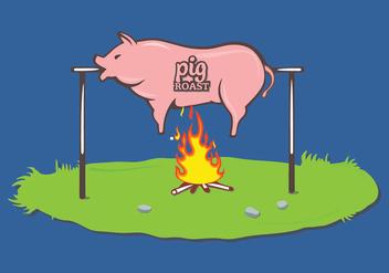 Pig Roast Vector - Free vector #305159