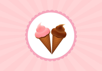 Ice cream cone cup vectors - бесплатный vector #305169