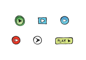 Free Play Button Icon Vector Series - Kostenloses vector #305229