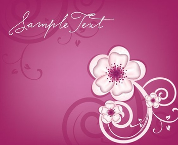 Floral Design Greeting Card - Free vector #305259