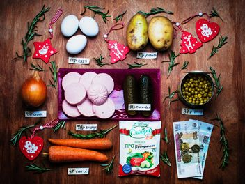 Ingredients for Russian traditional New year salad - image gratuit #305399