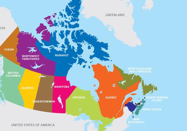 Canada Map - vector gratuit(e) #305559