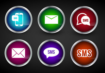 SMS Icon Vector - Free vector #305629